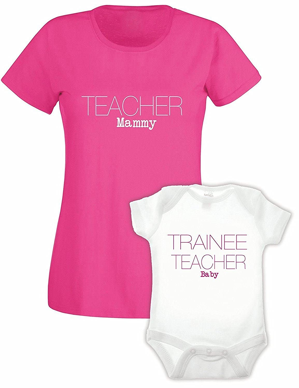 Bullshirt Ladies Teacher Tshirt /& Babygrow Double Pack