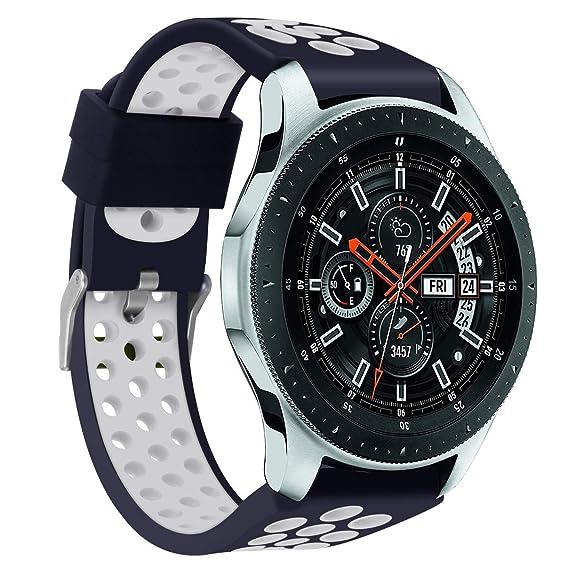 Hombre Mujer Reloj Banda De La Correa De La Pulsera del SilicóN De Los Deportes del Doble Color para El Reloj De Samsung Galaxy 56M M: Amazon.es: Relojes
