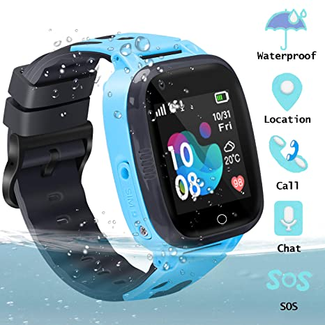 GUANLV Kids Smart Watch Waterproof GPS Watch Smartwatch Phone for Kids with Touch Screen SOS Game Remote Call Sport Smart Watch Camera Two-Way Call ...