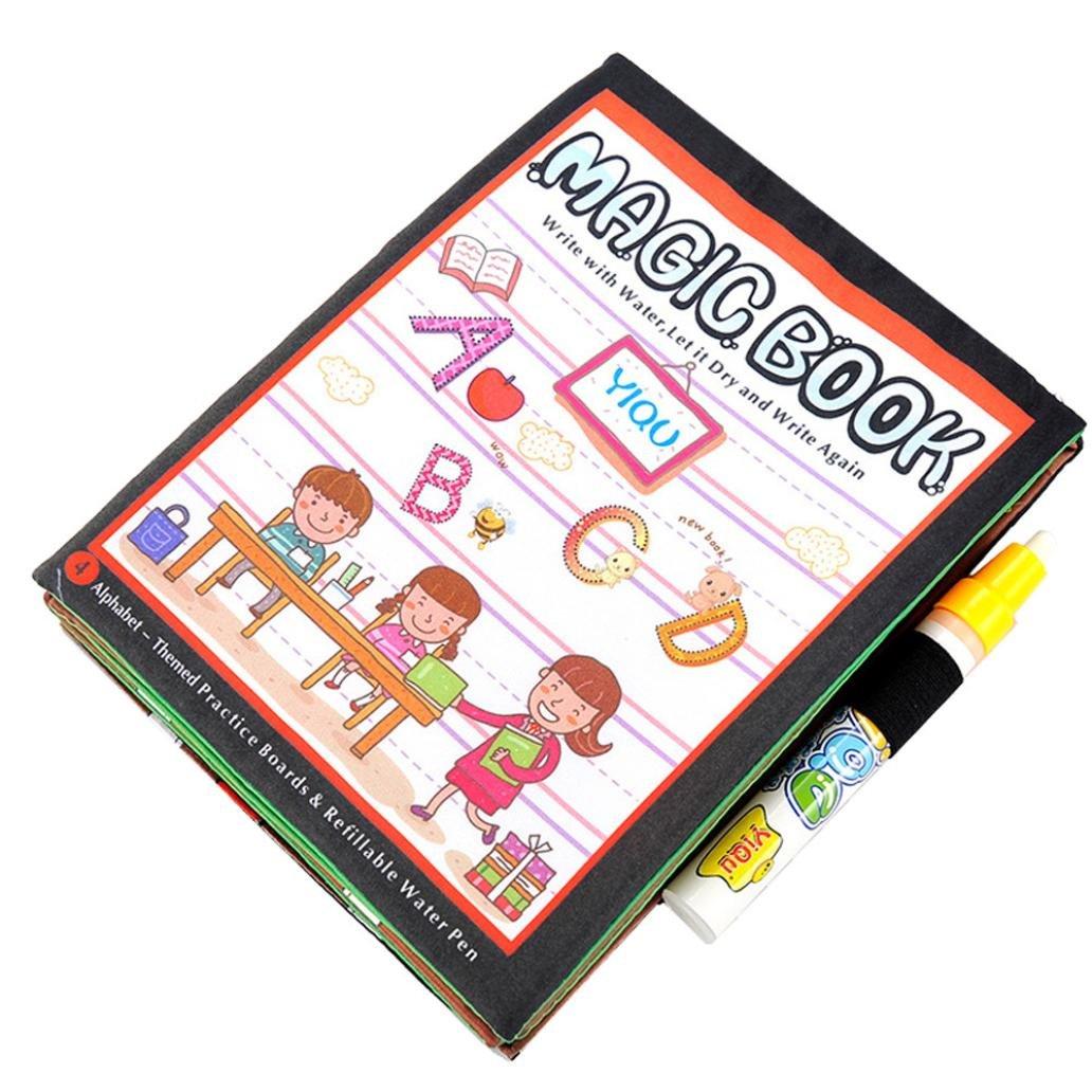 教育玩具、baomabao魔法水図面帳Coloring Book Doodle教育ペンペイントギフト_レッド   B01KF0PI74
