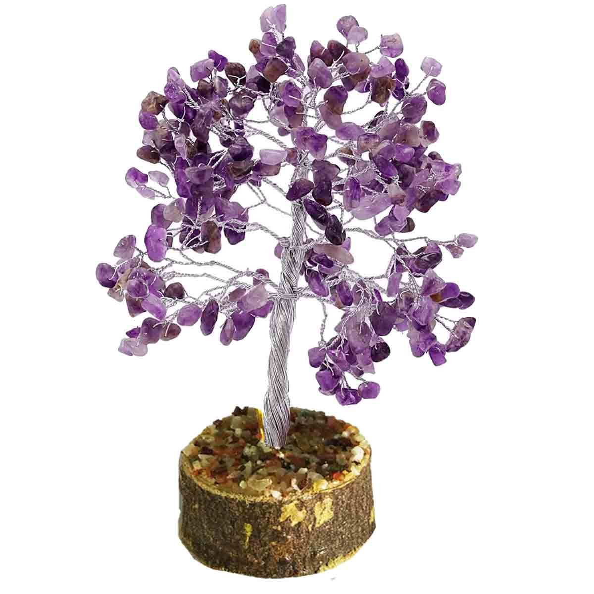 Amethyst Stone Tree Healing Crystals Stones Reiki Tree Reiki Spritual Gift With Gift PouchBy Mangalam House Mangalam Reiki