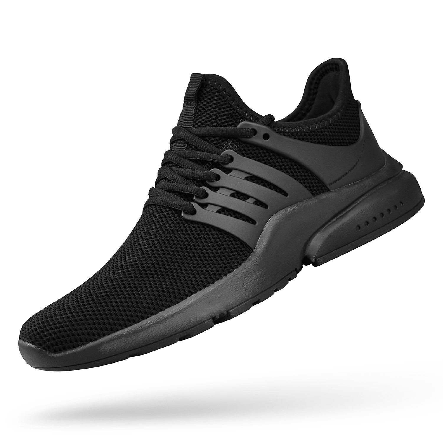 QANSI Mens Sneakers Mesh Breathable Athletic Running Workout Shoes Lightweight Tennis Gym Shoes