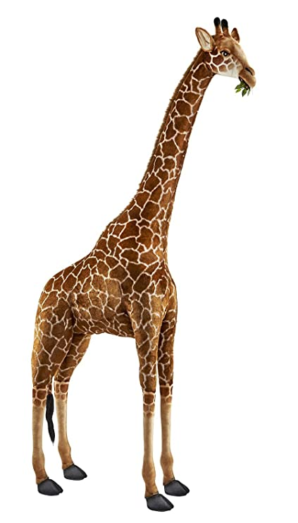 Amazon Com Hansa Life Size Giraffe Stuffed Animal Toys Games
