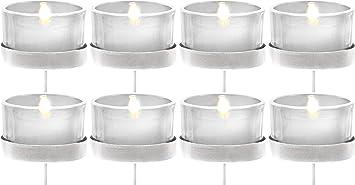 12 hohe Teelichthalter 9cm Glas Teelichter weiß klar transparent Kerzenhalter