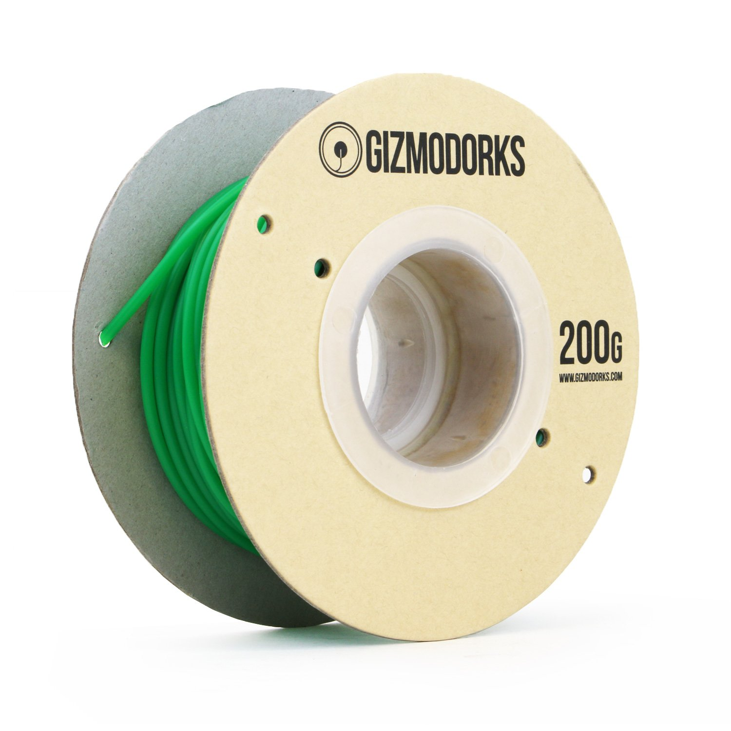 Gizmo Dorks ABS Filament for 3D Printers 1.75mm 200g Green