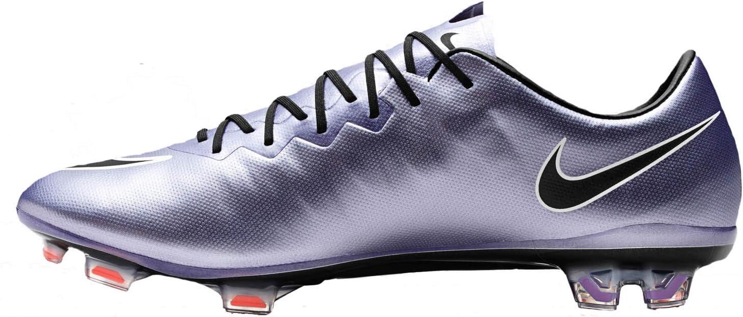 Nike Mercurial Vapor X FG Botines De Fútbol (Lilac Urbano/Negro/Brillante Mango): Amazon.es: Deportes y aire libre
