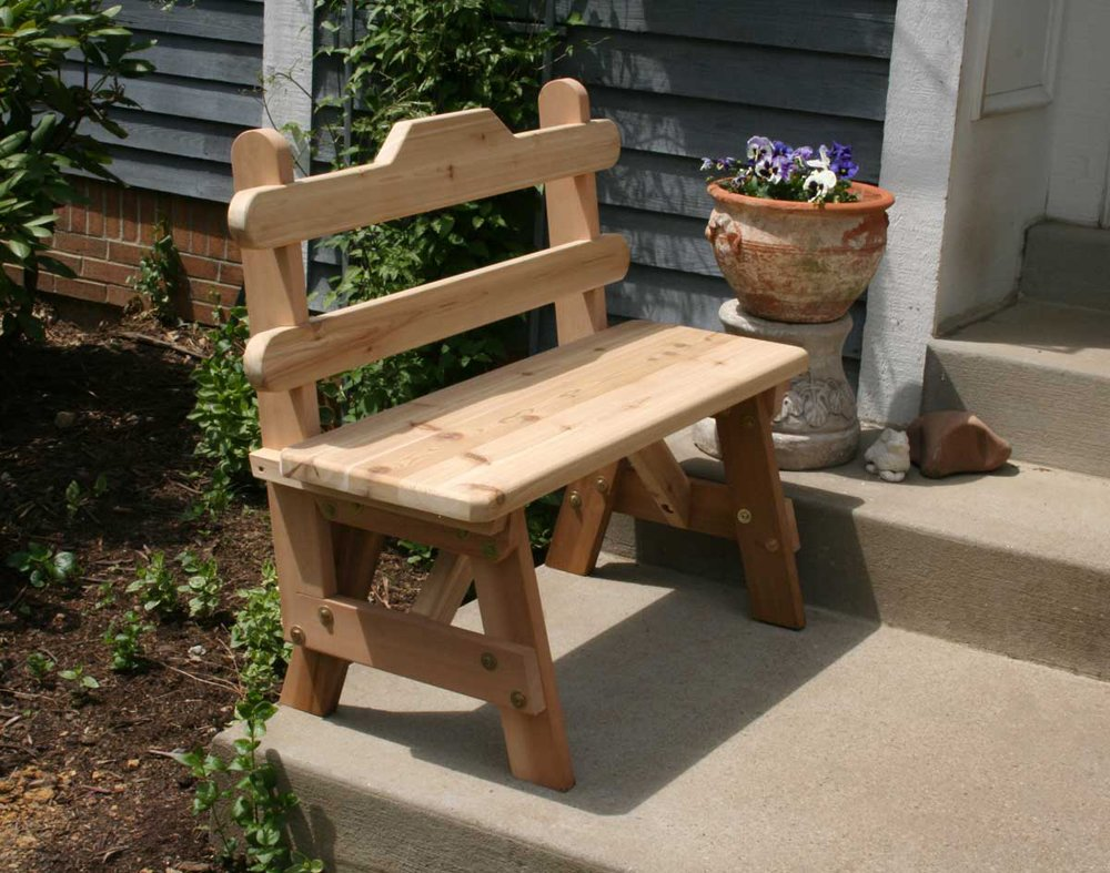 Creekvine Designs 3' Cedar Tab Back Bench