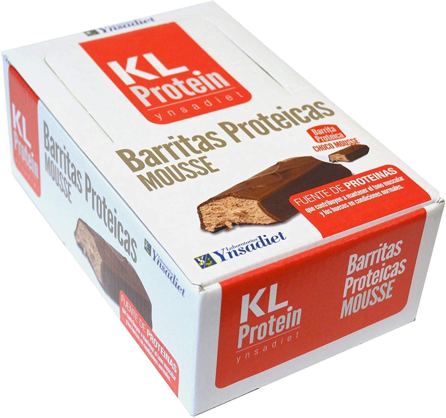 KL PROTEIN Barritas Proteicas y Energéticas, Sabor Chocolate ...