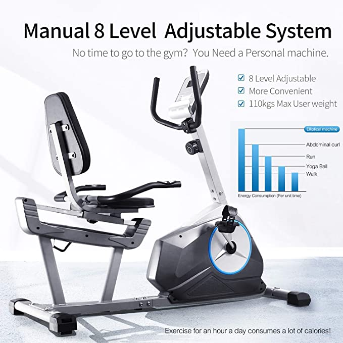 Amazon Com Gymbopro Indoor Training Exercise Bike Cycle Machine For Home Gym Cardio Workout Sports Outdoors