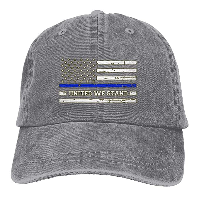 Thin Blue LINE - Blue Lives Matter Classic Unisex Baseball Cap Adjustable  Washed Dyed Cotton Ball Hat at Amazon Men s Clothing store  6660546156d6