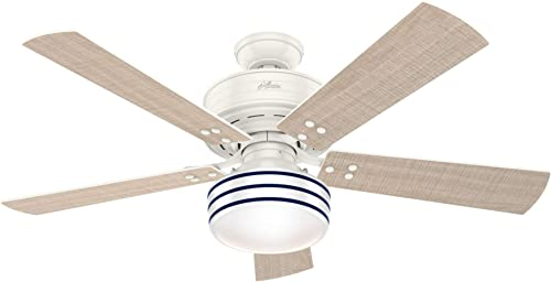 Hunter Fan Company Hunter 55077 Contemporary Modern 52 Ceiling Fan from Cedar Key collection finish, Fresh White