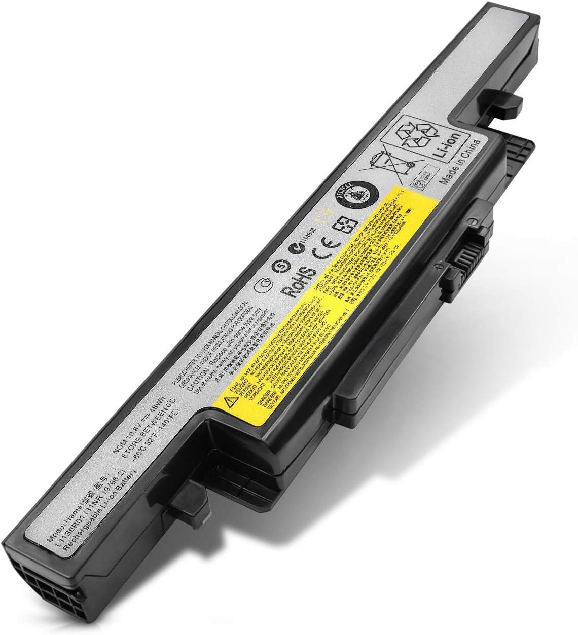 VillaCool New Laptop Battery for Lenovo Ideapad Y400 Y410 Y490 Y500 Y510 Y590 L11S6R01 L11L6R02 L12L6E01 L12S6A01 L12S6E01 3ICR19/65-2 3INR19/66-2 -10.8V 48Wh