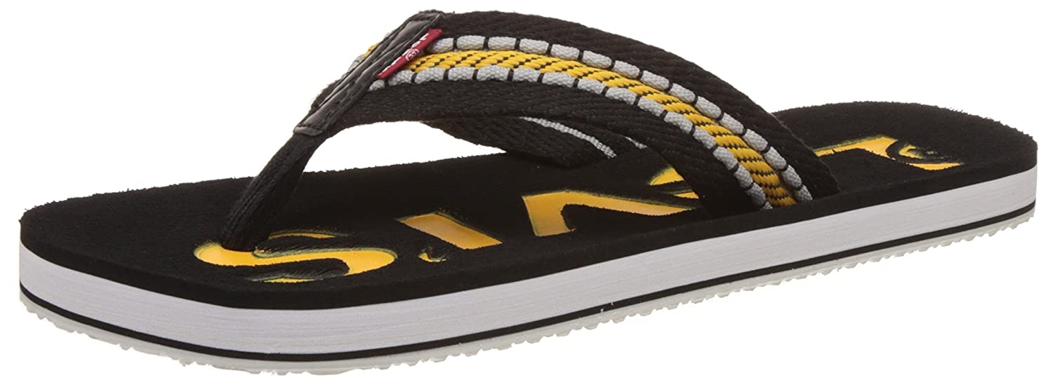 ad4aac28899 Levi s Men s Yellow Flip Flops Thong Sandals - 10.5 UK India (45 EU)  Buy  Online at Low Prices in India - Amazon.in