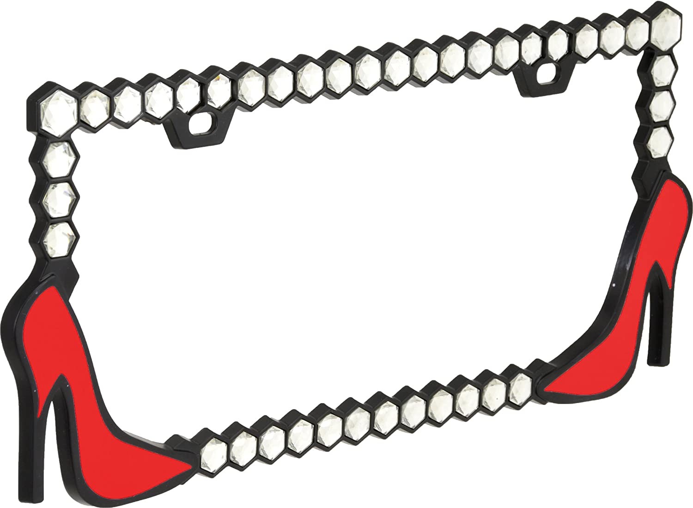 Bell Automotive 22-1-46511-8 Universal Red High Heel Design License Plate Frame