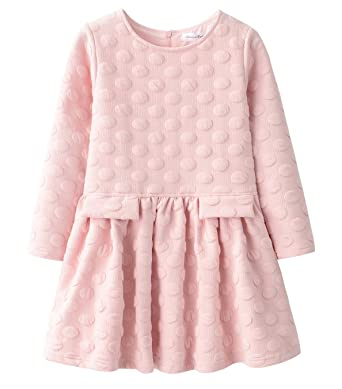 4e43128c9 Amazon.com  AuroraBaby Little Big Girls Casual Thick Warm Dresses ...