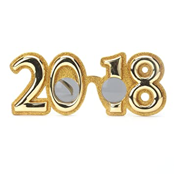 Amazon.com: Funny 2018 New Year Party Glasses Photobooth Props ...