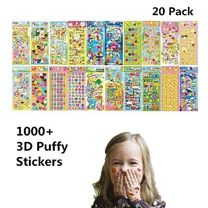 Amazon.com: TOWSIX - Pegatinas para niños, 1000 +, 20 hojas ...