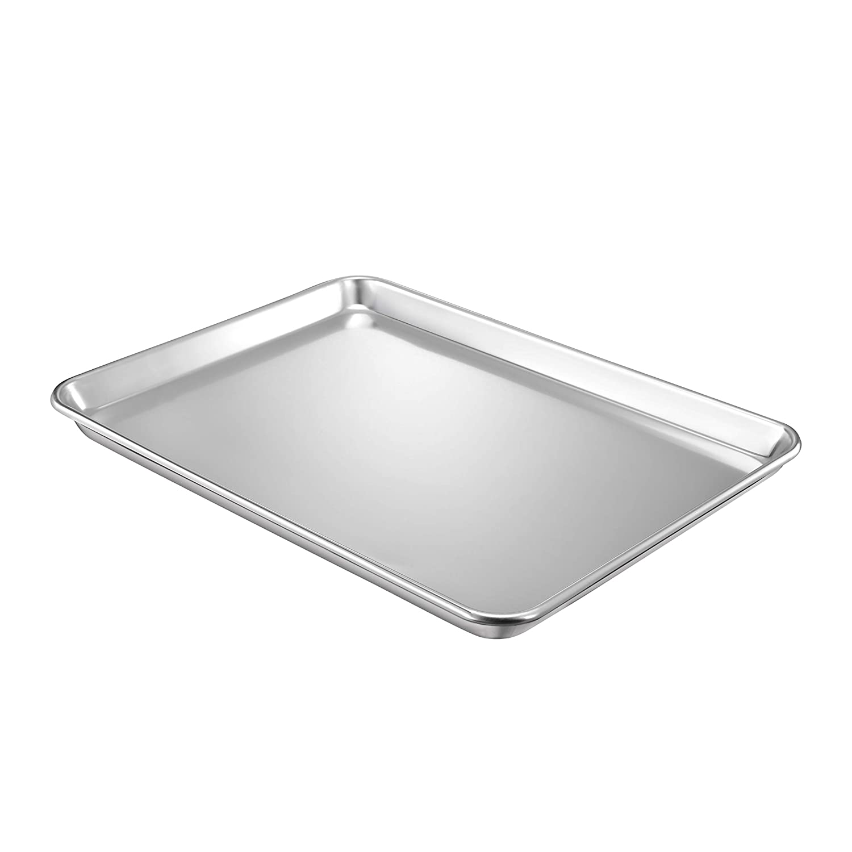 "QuCrow Nonstick Baking Sheet Pan, Aluminum Cookie Sheet, Bakers Half Sheet Pan, 18"" x 13"" x 1"", 1 Pack"