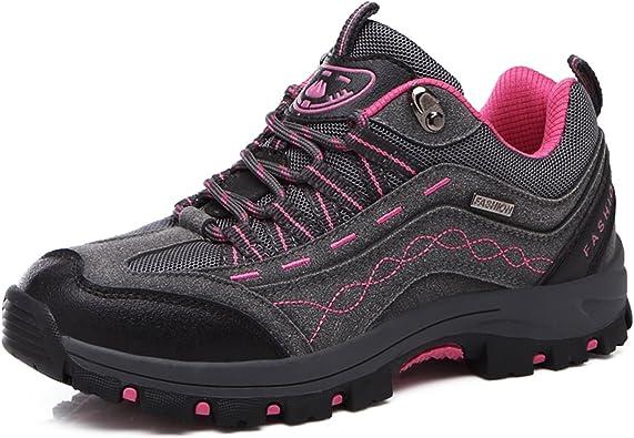 gracosy Zapatos de Trekking Hombres Mujeres, Senderismo Impermeables Botas de Escalada de Cuero Zapatos para Correr Botas de Escalada Deportes al Aire ...