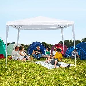 La fete 10' X 10' Outdoor Tent, Lightweight Canopy Tent, Portable Wedding Tent Patio Tent Garden Tent Carport Patio Gazebo BBQ Shelter, Heavy Duty Canopy Waterproof UV Protection Tent