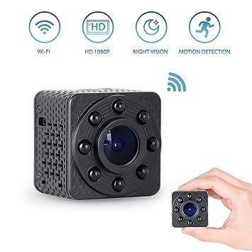 Mopoq Mini cámara espía de seguridad WiFi - Cámara de interior del ...