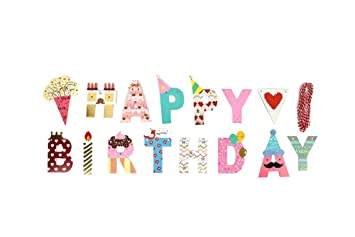 Toppop 2 Meter Happy Birthday Girlande Kinder Geburtstag Dekoration Geburtstagsparty Dekor Happy Birthday