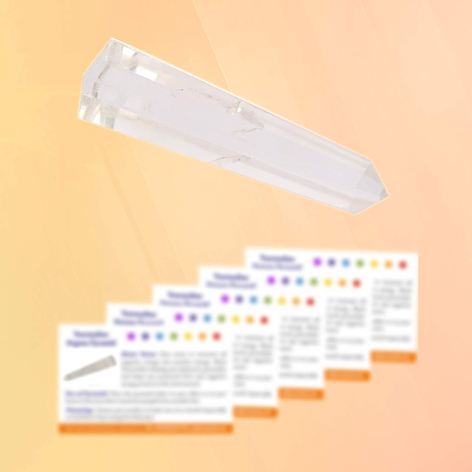 3-5 inch Aatm Crystal Healing Wand Obelisk Tower to Attract Higher Spiritual Energy for Purity Gift