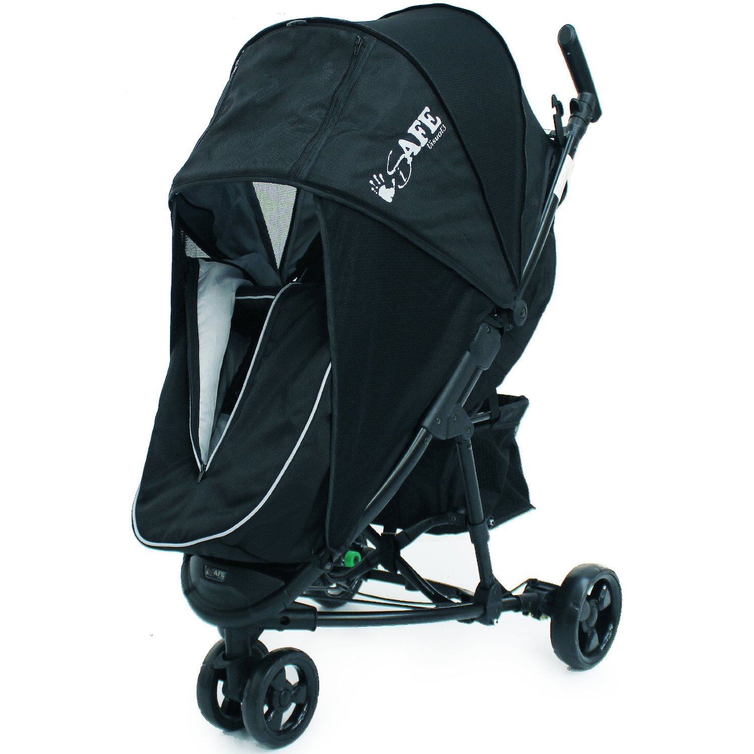 iSafe Visual 3 - Black & Grey Complete With Bumper Bar and Bootcover ISAFEVI3 - BG