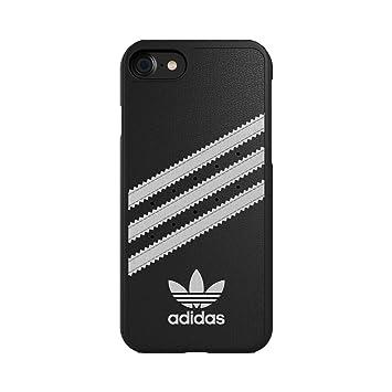 adidas Originals Moldeado Duro De La Cubierta Negro-Blanco para iPhone 7, Blister