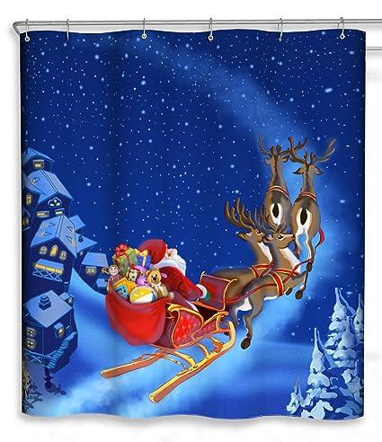 Amazon CHUN YI Merry Christmas Bathroom Decoration Polyester