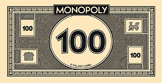 NEW Monopoly Replacement MONEY Sealed FREE SHIPPING
