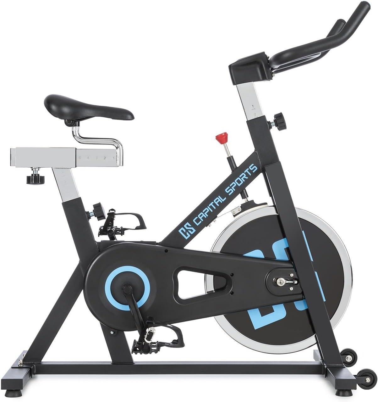 CapitalSports Radical ARC X13 - Bicicleta Indoor, Bicicleta estática, Rueda de inercia con 13kg, Accionamiento por Cadena, Capacidad de Carga 120kg, Ajustable, Estable, Peso 30,5kg, Negro: Amazon.es: Deportes y aire libre