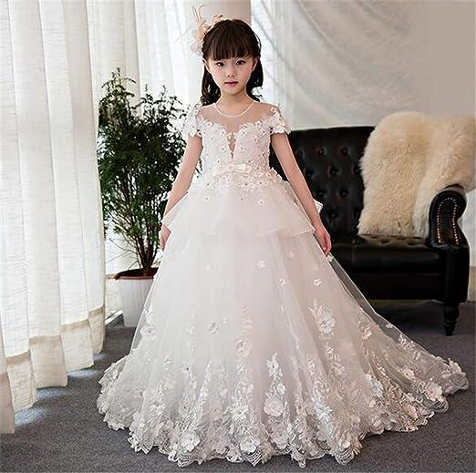 Vestido de niña, Vestido de Novia Infantil Traje Trajes de ...