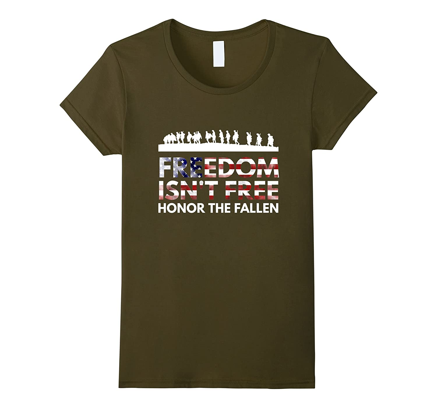 Freedom isn't free honor the fallen soldiers veterans shirt