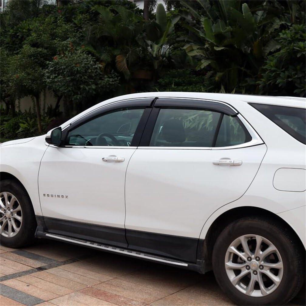 WeatherTech Custom Fit Front /& Rear Side Window Deflectors for Chevrolet Equinox Dark Smoke