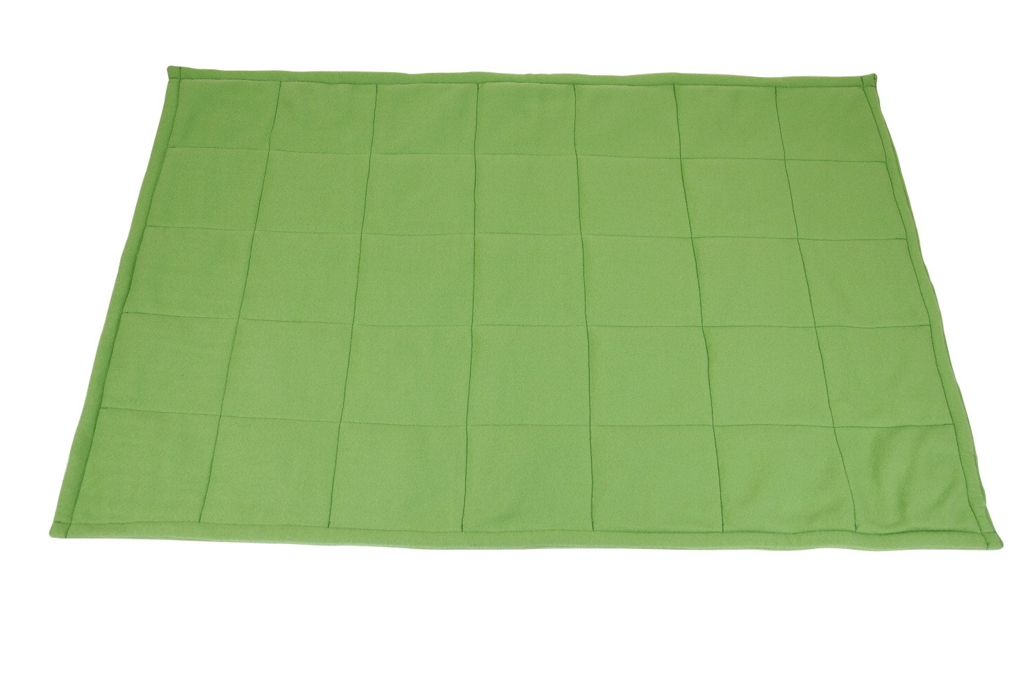 Abilitations Fleece Weighted Blanket, Small, 5 Pounds, Green