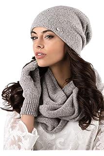 458dc796e4e Kamea - Winterset Novara - Chapeau avec foulard à boucles assorties - Choix  de couleurs différentes