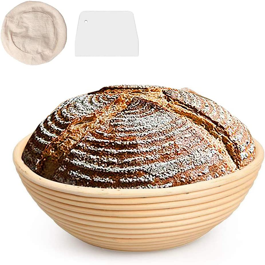 8 Inch Rectangle Bread Proofing Basket Pure Natural Rattan Proofing Baskets for bread baking Suitable for Professionals or Home Bakers-1 Set.
