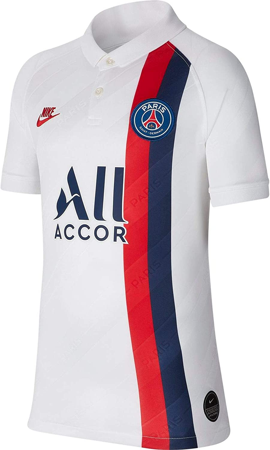 Amazon Com Nike 2019 2020 Psg Third Football Soccer T Shirt Jersey White Kids Sports Outdoors