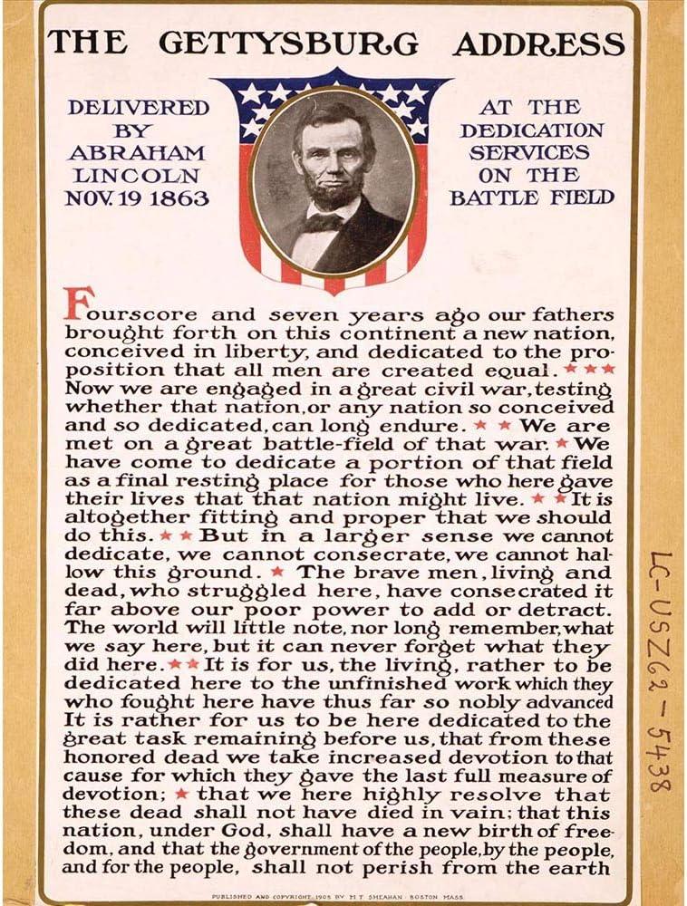 Wee Blue Coo War American Civil Lincoln Gettysburg Address President Unframed Wall Art Print Poster Home Decor Premium