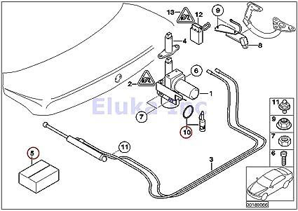 amazon bmw genuine trunk lid hydraulic unit fluid 745i 750i A C Condenser Parts Diagram image unavailable