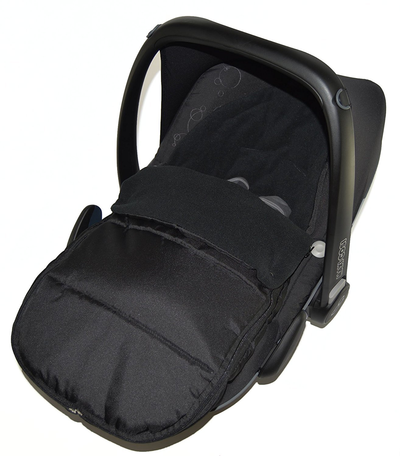 Car Seat Footmuff/Cosy Toes Compatible With Kiddy Evo Lunafix Black Jack For-Your-Little-One