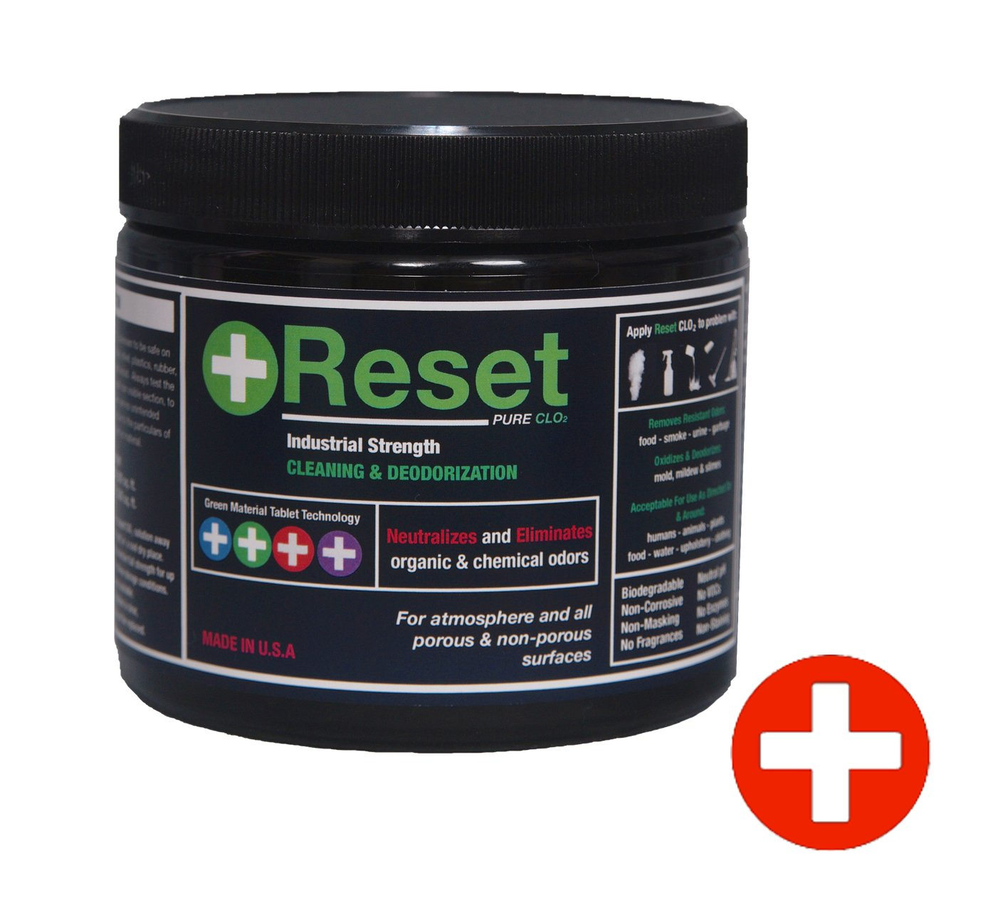 Reset Pure Chlorine Dioxide LIQUID: Safely Remove Organic & Chemical Odor From Any Surface or Tank & Line System. 5 Red Tablets. Commercial Strength (H-Level)