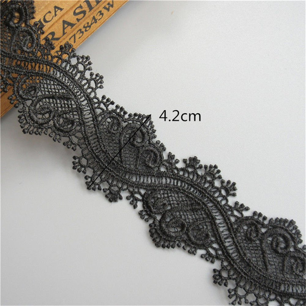 4.5cm Stunning Black guipure venice lace trim edging for designing sewing 1 mtr