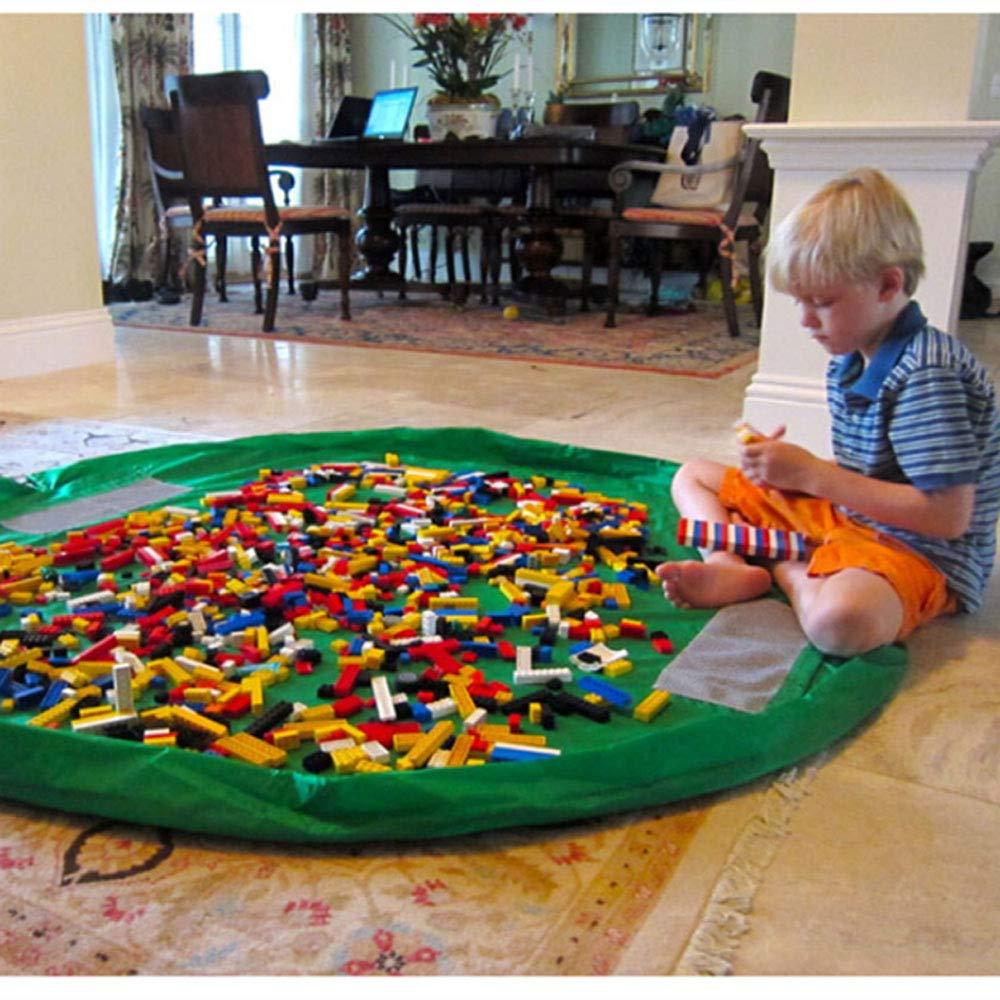 BigNoseDeer Enfants Tapis de Jeu Sac de Rangement de Jouets b/éb/é Pliable Enfants Tapis Enfant Organisateur de Jouets 60 Pouces 150cm