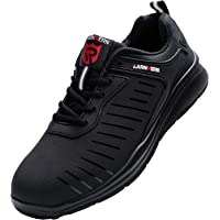 LARNMERN PLUS Zapatos de Seguridad Hombre Ligeros, Punta de Acero Zapatillas de Seguridad Antiperforación Transpirable…