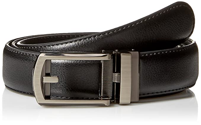 Comfort Click Men's Adjustable Perfect Fit Leather Belt - As Seen on TV