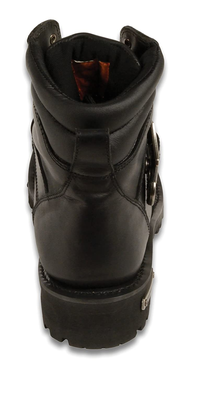 Milwaukee Mens 6 Side Buckle Boots Black, Size 14