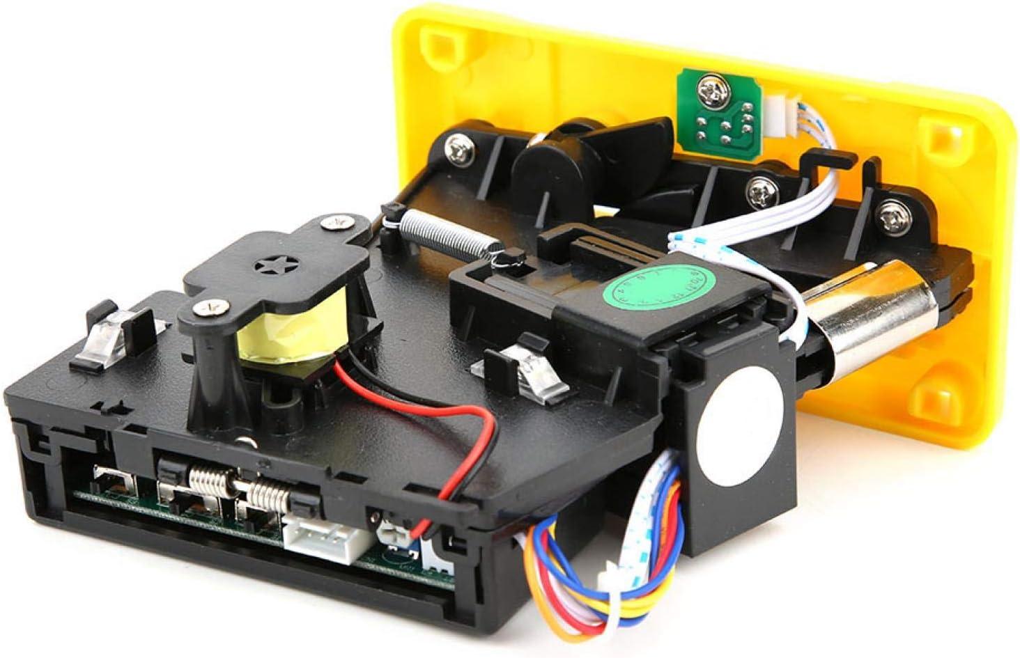 Okuyonic DC + 12V ± 10%, Plata, Amarillo, -15 ℃ ~ + 15 ℃, Selector mecánico de Monedas, con indicador LED, Aceptador de Monedas, para máquina de Venta de Agua para máquinas expendedoras(Yellow)