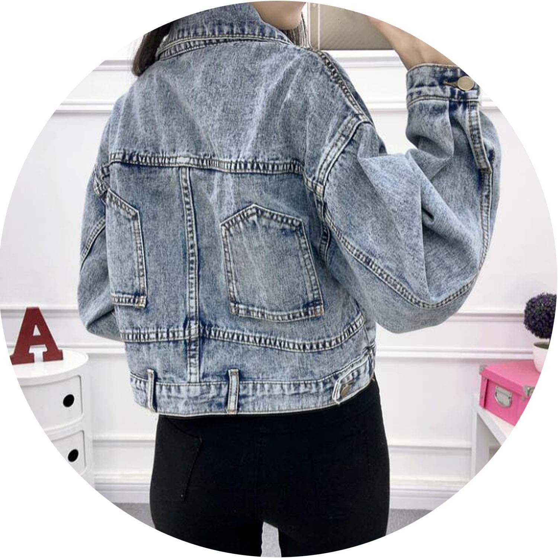 Vintage Female Spring Jackets Short Fashion Coats Womens Jeans Jacket Crop Denim Woman Jakcet